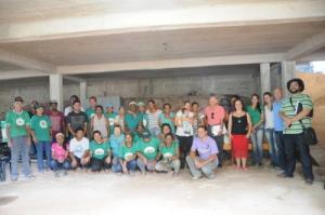 Catadores da Cooperativa Aguapé receberam o prêmio; projeto é em parceria com a Prefeitura.