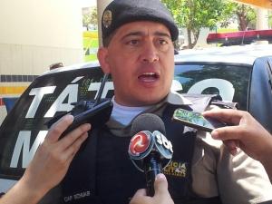 Capitão Schuab relatou como foi a interceptação do veículo e o trabalha de abordagem da PM.
