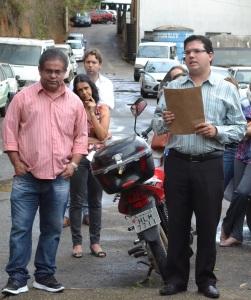 Estiveram presentes na reunião com a Promotoria, representantes do sindicato e da Prefeitura.