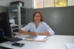 A coordenadora do PACS Realeza, enfermeira Elisa de Fátima Silva.