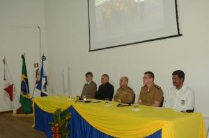 Autoridades de Manhuaçu estiveram presentes na solenidade.