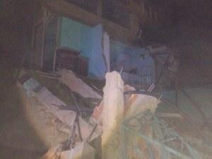 Defesa Civil constatou falha estrutural na casa, o que levou ao desabamento.