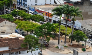 Vista panorâmica da Praça da Rodoviária.