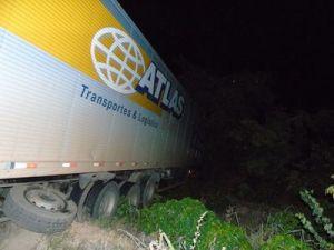 Chovia no momento do acidente e condutor relatou haver óleo na pista; Corpo de Bombeiros realizou o atendimento.