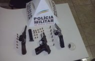 PM apreende armas de fogo em Santa Margarida