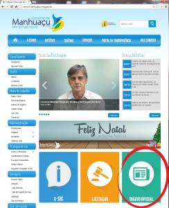 Diário da união já está disponível no portal da Prefeitura de Manhuaçu.