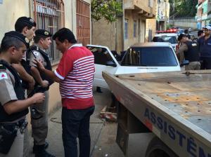 PM no rastreamento dos dois suspeitos, ambos residentes do bairro Santa Terezinha.