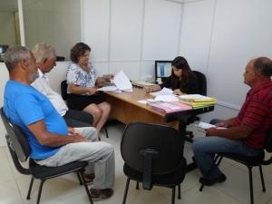 Entre os representantes estavam o provedor do HCL, Sebastião Onofre, e o presidente do  conselho de saúde, Nelson de Abreu.