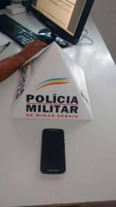 Celular encontrado durante operação policial no bairro Nossa Senhora Aparecida; dos seis casos, apenas um foi recuperado.