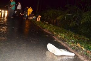O acidente aconteceu no KM 584 da BR-116, local conhecido como reta de São Pedro do Avai, distrito de Manhuaçu