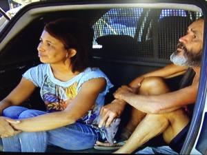 Márcia Helena Batista Dias e Paulo Marcos da Silva acabaram presos por ato obsceno.