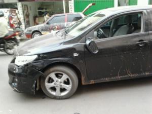 Segundo a versão da vítima, Corolla não sinalizou para estacionar.