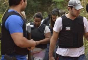 Gilmária Silva Patrocínio, de 33 anos, fez a reconstituição do crime junto a Polícia Civil.