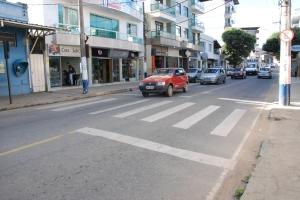 Faixa de pedestres na avenida Getúlio Vargas será alterada para dar mais fluidez ao trânsito