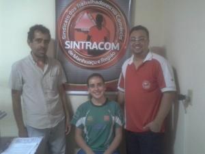 Presidente do Sintracom, Adalto Abreu, apoia a atleta