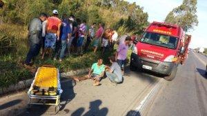 Corpo de Bombeiros fez o resgate das vítimas.