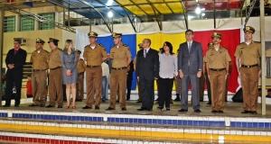 Diversas autoridades civis e militares estiveram presentes na cerimônia.