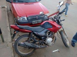 Motocicleta foi abandonada a aproximadamente 2km de distância do local do furto.