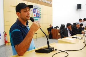 Presente ao plenário da Casa Legislativa, o morador do distrito de Vilanova, Dionísio Gomes, falou sobre o abandono da creche que atende a comunidade