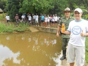 Integrantes no Córrego São Sebastião
