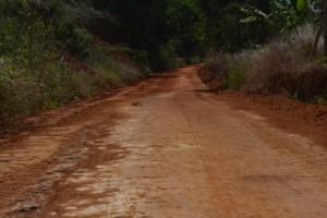 O patrolamento começou na estrada que liga o Distrito de Santo Amaro à Bom Jesus de Realeza