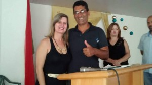 Júlio Caetano, da escola de Realeza, foi um dos diretores que tomou posse