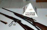 Polícia apreende rifle e espingarda na zona rural de Mutum