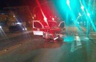 Acidente envolve ambulância em Ibatiba