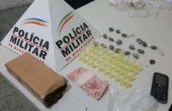 Rapaz de 20 anos é preso por tráfico de drogas