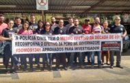 Candidatos aprovados para a PC fazem manifestação em todo estado e profissionais de Manhuaçu apoiam o movimento