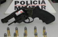 Homem é preso em Orizânia por portar revólver e munições