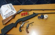 Armas e munições são apreendidas em Durandé