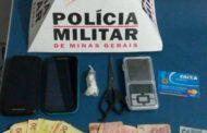 Suspeito de Tráfico é conduzido à delegacia de Manhuaçu