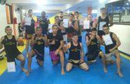 12 alunos do Muay thai participam de graduação em Manhuaçu