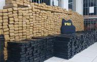 Mais de duas mil barras de maconha apreendidas pela PRF