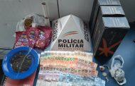 PM prende traficante e apreende arma, dinheiro e drogas no Santa Luzia