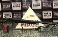 Armas e munições recolhidas em Mutum