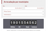 Impostômetro mostra que contribuintes de Manhuaçu pagaram mais de R$ 19 milhões em 2019
