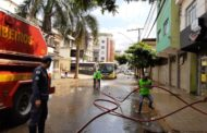 Limpeza das ruas Juventino Nunes e Osmar Lacerda