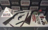 Armas e munições recolhidas na zona rural de Manhumirim