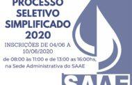 SAAE abre processo seletivo simplificado