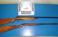 Homem detido por posse ilegal de armas