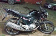 Moto roubada é recuperada em Vila Nova