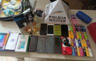 PM prende autores de furto e recupera materiais em Lajinha