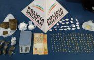 PM prende autor de tráfico, apreende menor e drogas no bairro São Francisco de Assis