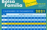 Divulgado o calendário do Bolsa Família para 2021