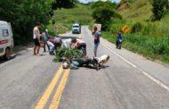 Motociclista sofre ferimentos graves em acidente na BR-262
