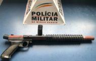 Apreensão de arma de fogo no Santa Luzia