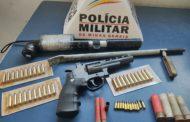 Apreensão de armas e diversas munições no bairro São Francisco de Assis