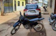 Moto furtada em Carangola é recuperada no bairro Santa Terezinha